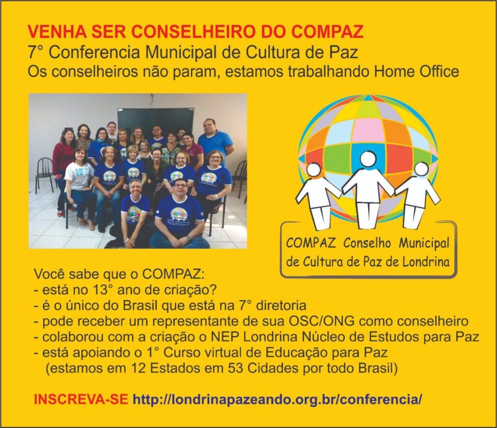 Movimento pela Paz é Londrina em ação: participe!!!